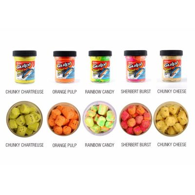 Berkley Gulp Trout Nuggets Packaging Range