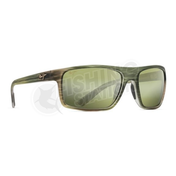 Maui Jim Byron Bay Matte Green Stripe Rubber Main