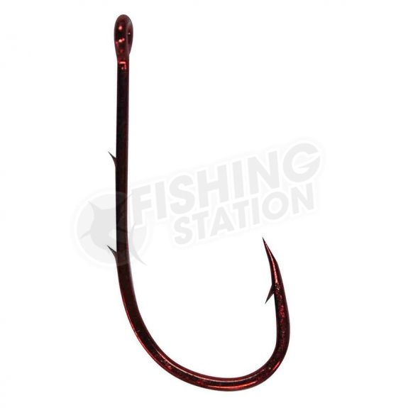 Mustad 92668NPNR Red Baitholder Hook